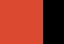 Orange red/black